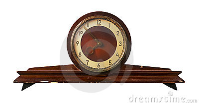 Old-fashioned clock made in USSR