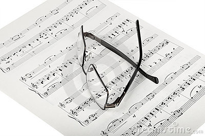 Sheet Music And Glasses