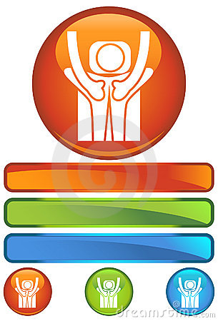 Orange Round Icon - Back Massage
