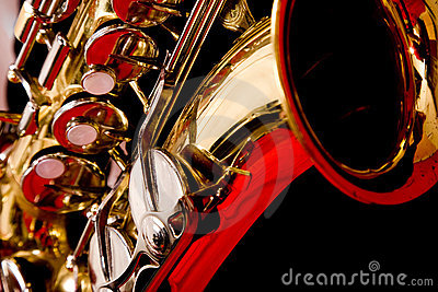 Extreme close up of Saxaphone