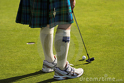 Skirted golfer