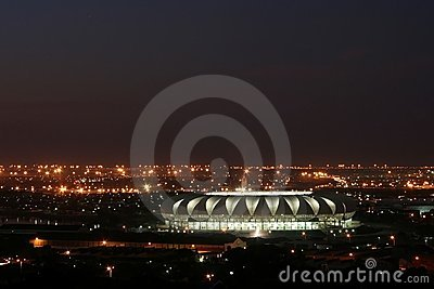 Soccer Stadium at night