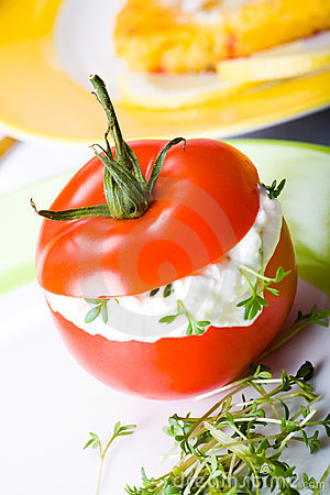 Finger food tomato
