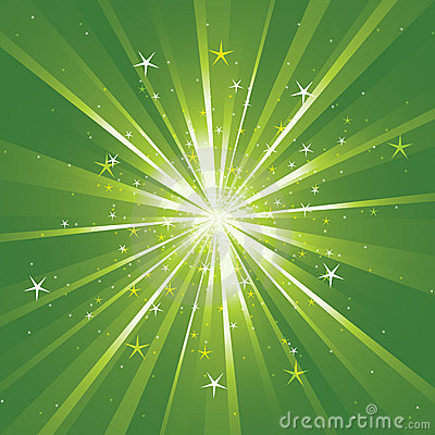 Background with light rays and stars