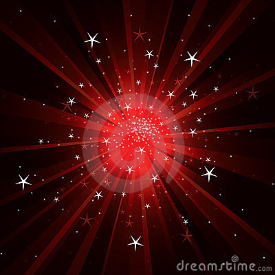 Flash background with light rays and stars