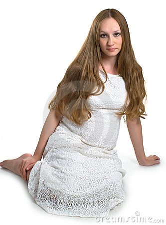 Pregnant women in white dress