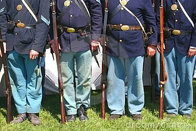 Union Soldiers--Civil War Reenactment