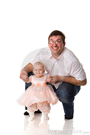 Father with baby girl