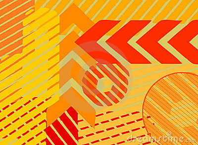 Lines and arrows background vector