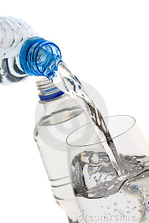 Bottled water isolated on white