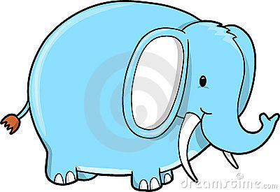 Blue Elephant vector
