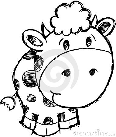 Sketchy Cow Vector Illustration