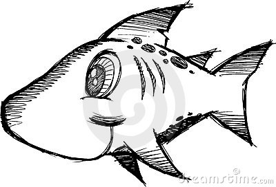 Sketchy shark Vector Illustration