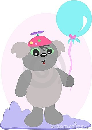 Koala with Blue Balloon