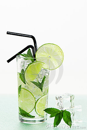Mojito Cocktail With Straws