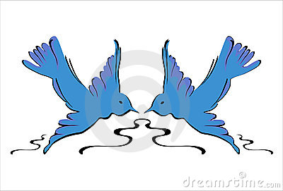 Blue Swallows - Vector