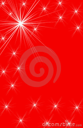 White Star Designs on Red Vertical Background