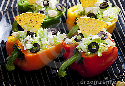 Filled peppers