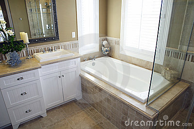 Bathroom with a modern tub