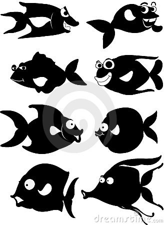 A cartoon fish