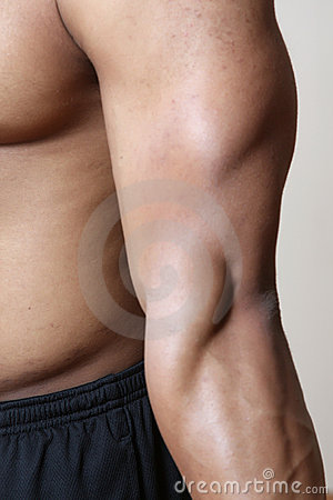 Male arm muscles