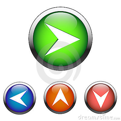 Navigation color buttons (vector)