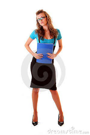 Young office woman