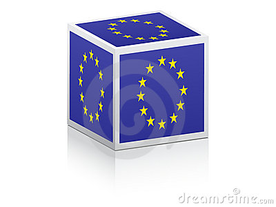 European flag on box