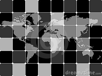 Abstract background with world map