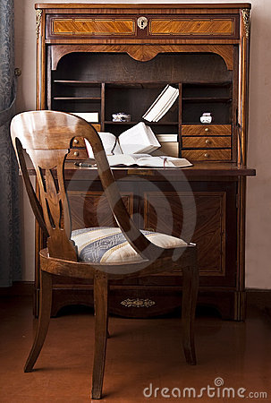 Old writing desk