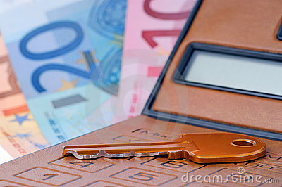 Calculator key and euromoney note