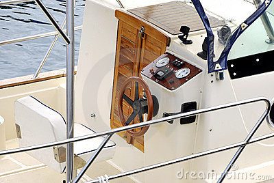 Helm of a boat