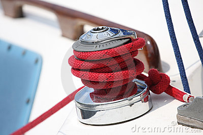 Rope on a sailboat