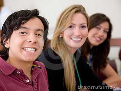 Happy students portrait