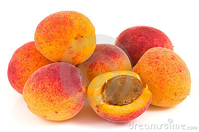 Apricot isolated