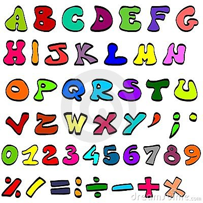 Coloured alphabet