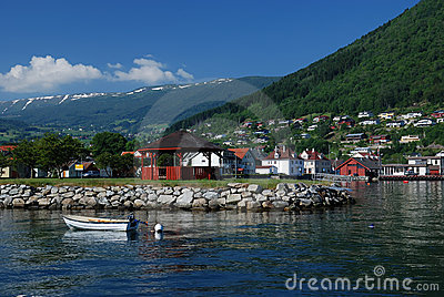 Village near Sognefjord
