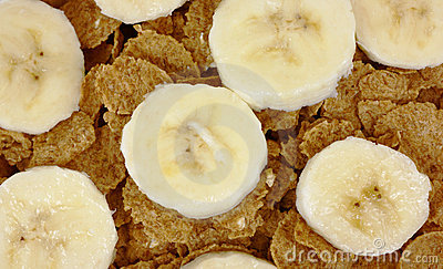 Close view banana slices