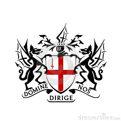 Modern london coat of arms vector