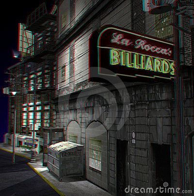 This is an anaglyph image / stereo rendering of a