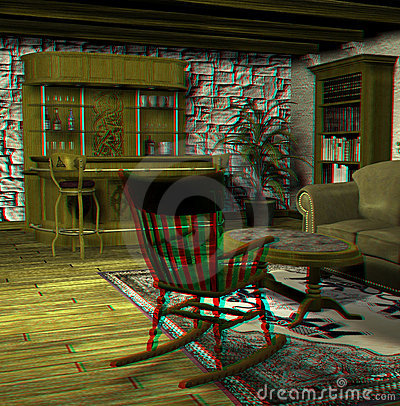 This is an anaglyph image / stereo rendering of