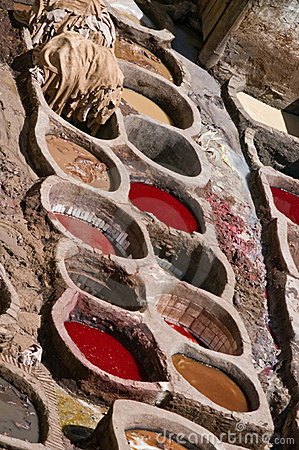 A tannery in Fes, Morocco