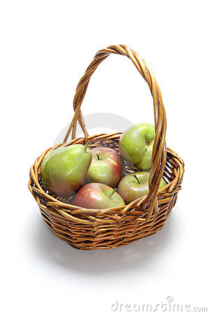 Apples and Pears in Basket
