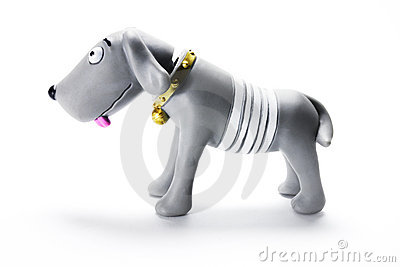 Plastic Dog Figurine