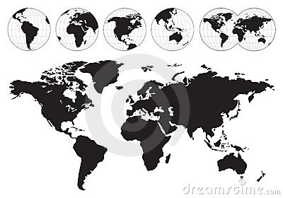Highly detailed world maps