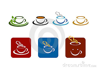 Coffee bar shop vector brands logo