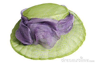 Green hat isolated