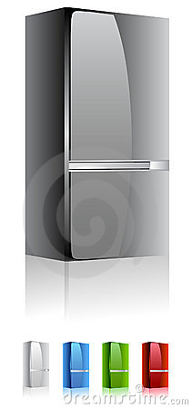 Fridge refrigerator vector