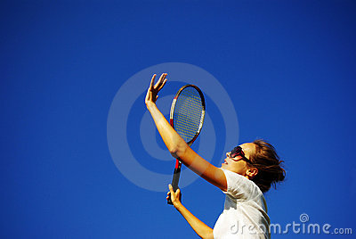 Young pretty girl to play tennis