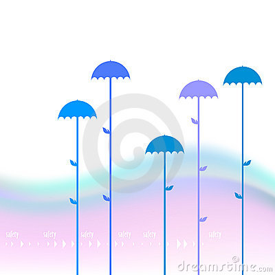 Abstaract background with umbrellas